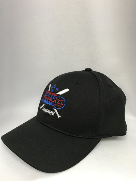HT308DX-8 Stitch Flex Fit Umpire Hat with Dixie Baseball Embroidered Logo Umpire Hat-Available in Black and Navy