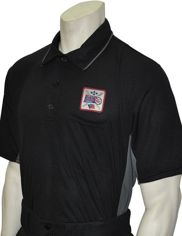 USA312DX-Smitty Major League Style Umpire Shirt with Dixie Patch - Available in Black/Charcoal and Sky Blue/ Black