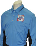 USA313DX-Smitty Major League Style Umpire Long Sleeve Shirt with Dixie Patch - Available in Black/Charcoal and Sky Blue/Black