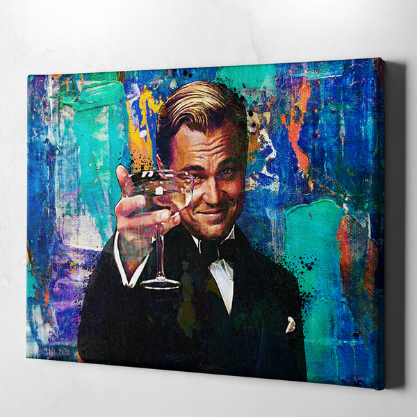 office wall decor canvas print, great gatsby wall art canvas, leonardo dicaprio canvas art 16 x 12, 24 x 18, 32 x 24, 30 x 40, 60 x 40