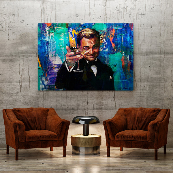 Raise The Glass Canvas, great gatsby wall decor, office decor for men!, 16 x 12, 24 x 18, 32 x 24, 30 x 40, 60 x 40, CanvsWrp-ImgWrp-12x16-0, CanvsWrp-ImgWrp-18x24-1, CanvsWrp-ImgWrp-24x30-2, CanvsWrp-ImgWrp-30x40-3, CanvsWrp-ImgWrp-40x60-4