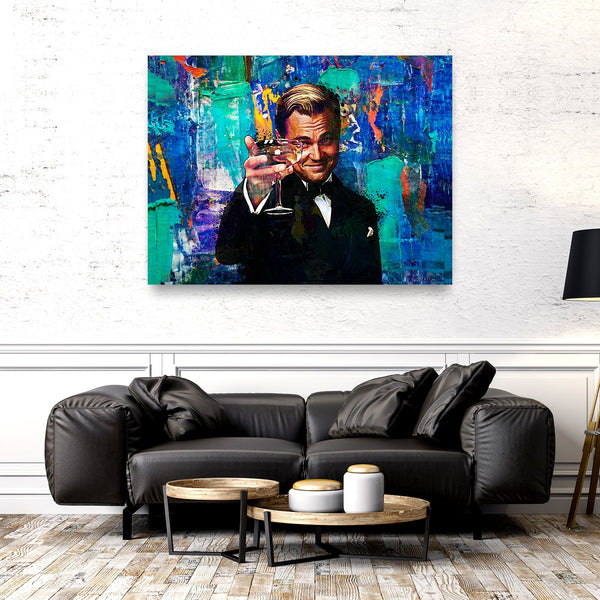 Gatsby leonardo dicaprio wall art, office wall decor canvas, 16 x 12, 24 x 18, 32 x 24, 30 x 40, 60 x 40, CanvsWrp-ImgWrp-12x16-0, CanvsWrp-ImgWrp-18x24-1, CanvsWrp-ImgWrp-24x30-2, CanvsWrp-ImgWrp-30x40-3, CanvsWrp-ImgWrp-40x60-4