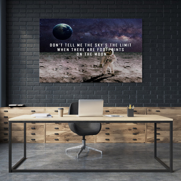 Sky Is Not The Limit Motivational Canvas Art