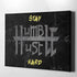 Stay Humble Hustle Hard motivational office wall art canvas