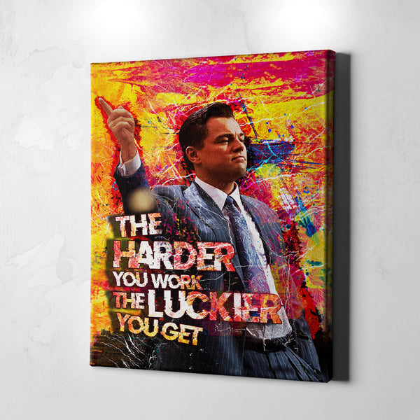 wolf of wall street canvas wall art