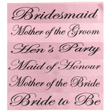 Bachelorette Party Cloth Sashes - Multiple Titles for Mothers, Bridesmaids, Hen Night, Etc. Choose your style.