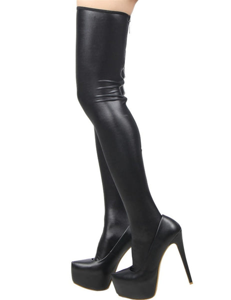 High Quality Women's Faux Leather Boots Lingerie - Sex Toys Wunderland