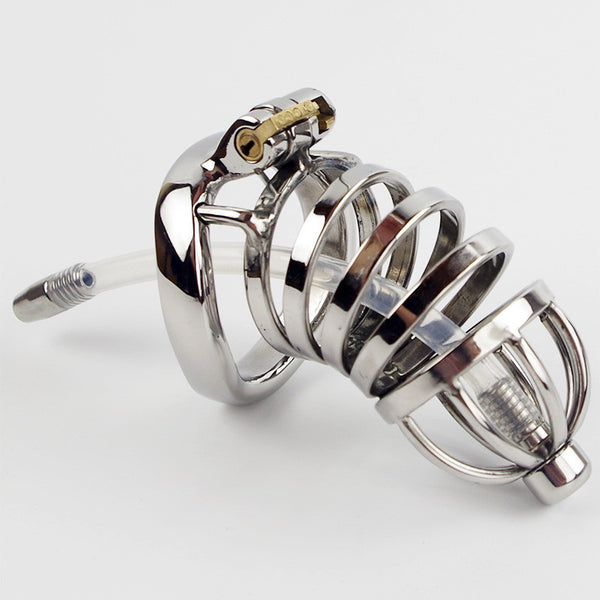 Stainless Steel Metal Penis Male Chastity Device