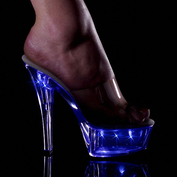 Women's Sexy 6 Inch Crystal Lamp Exotic Dancer Stripper Shoes