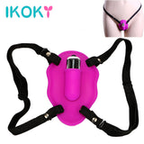 Wearable Butterfly Vibrator Sex Toy Harness for Women Vibrator - Sex Toys Wunderland