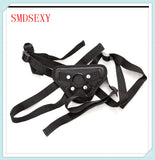 Nylon and Leather Strap-on Dildo Harness