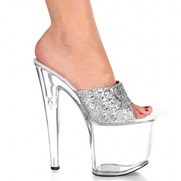 8 Inch Clear High Heel Stripper Platforms Shoes