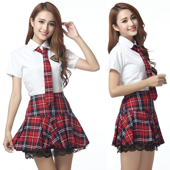 Sweet Catholic School Girl Erotica Cosplay Sexy Costume Lingerie - Multiple sizes including Plus Size Lingerie - Sex Toys Wunderland