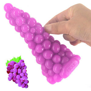 Novelty Silicone Grape Dildo Dildo - Sex Toys Wunderland