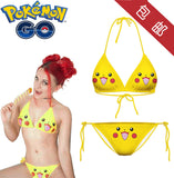 Pokemon Go PikachuCosplay Bra Panty Swimsuit