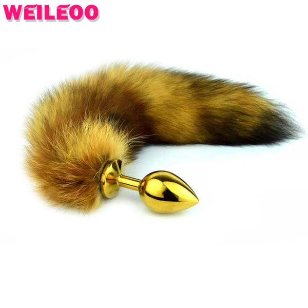 Brown Racoon Cat Tail Anal Butt Plug Sex Toy Anal Plug - Sex Toys Wunderland