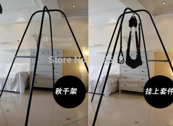 Sex Swing with Support Frame Elastic Bungee Rope