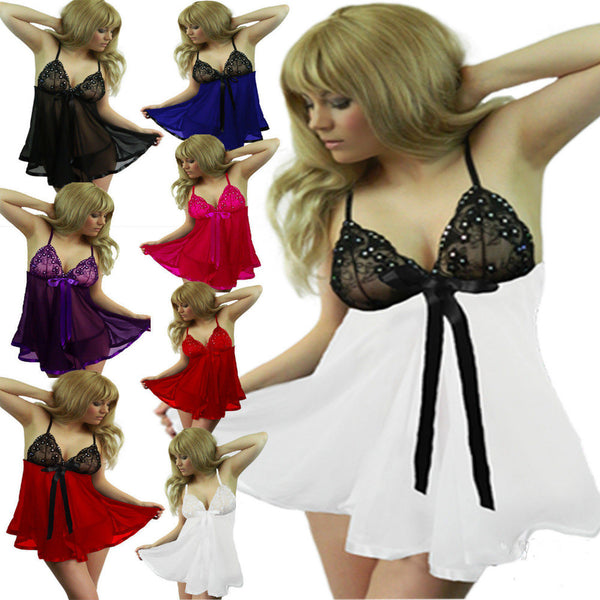 Ladies Sexy Babydoll Nightgown - Assorted Colors and Sizes Lingerie - Sex Toys Wunderland