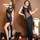 Women's Sexy Nightclub Mesh Splicing Dress Lingerie - Sex Toys Wunderland
