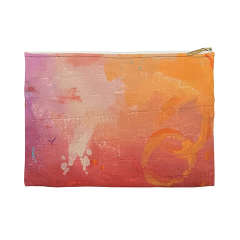 Multi Colored Mottled Accessory Pouch