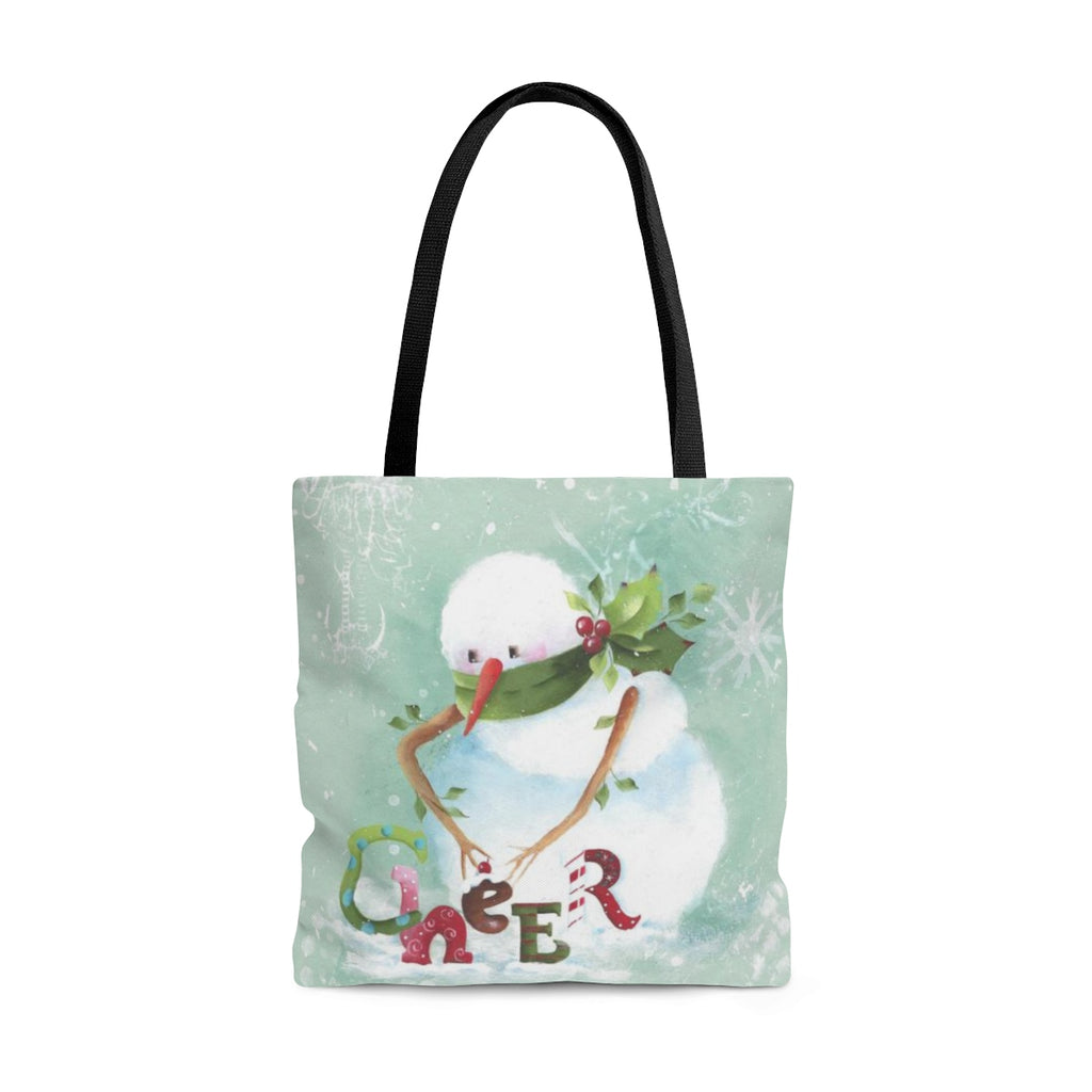 Cheer Snowman Tote Bag