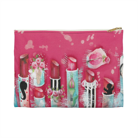 Pink Lipstick Pouch