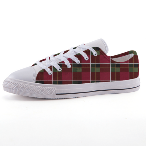 Plaid Low-top fashion canvas shoes