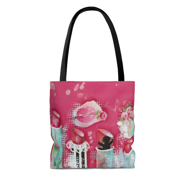 Pink Lipstick Tote Bag