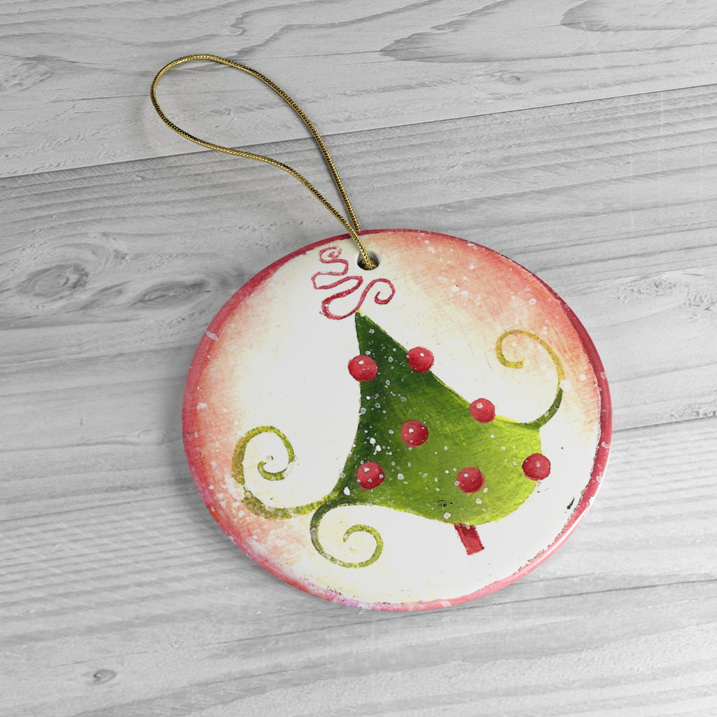 Tree Ceramic Ornaments