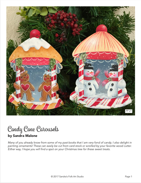 Candy Cane Carousel Ornaments