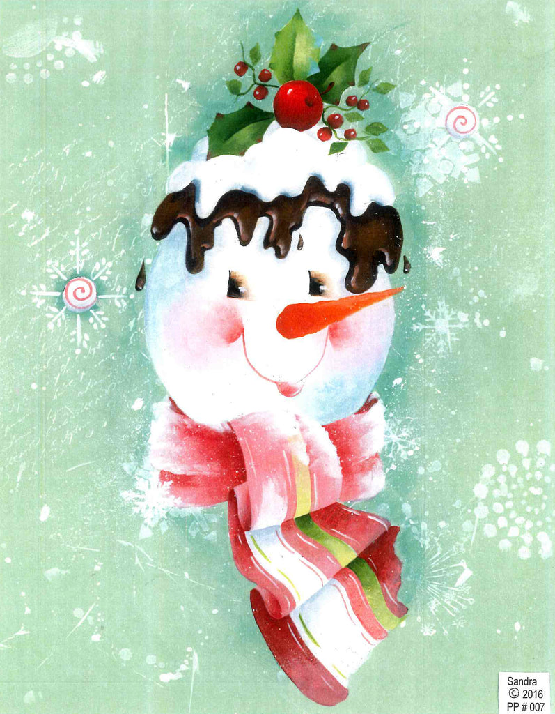 Chocolate Cherry Snowman