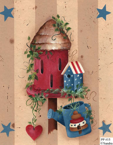 Butterfly Birdhouse Watering Can