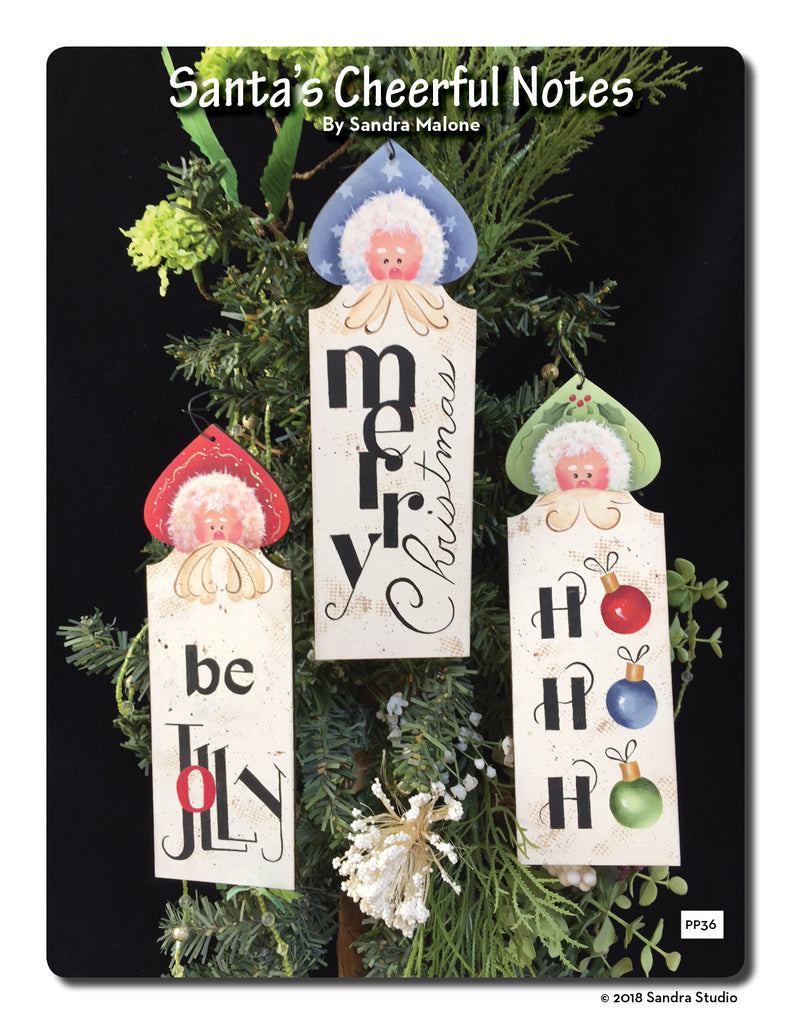 Santa's Cheerful Notes Ornaments