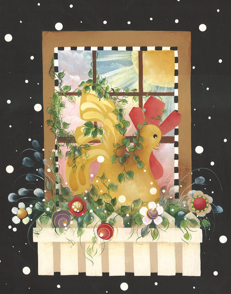 Rooster Window Puzzle