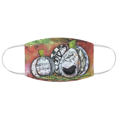 Music Pumpkin Fabric Face Mask