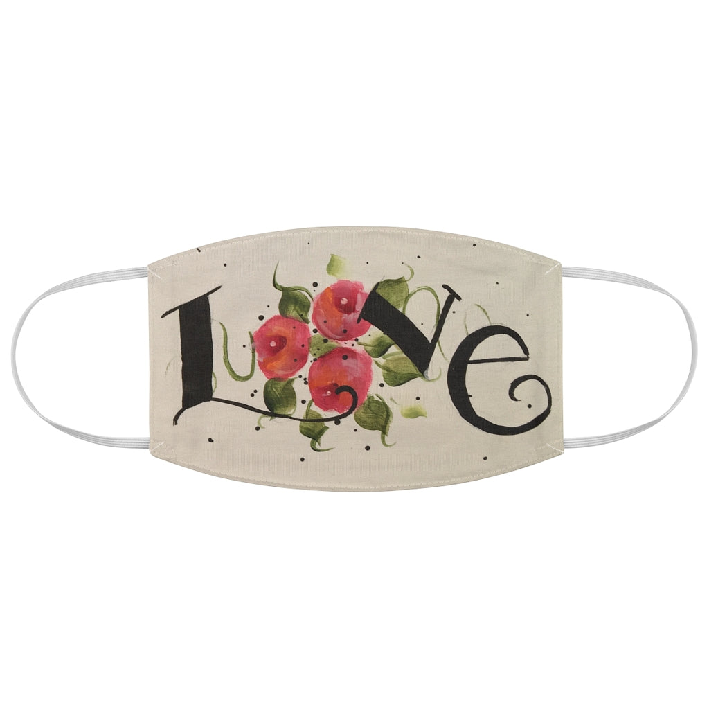 Roses Love Fabric Face Mask