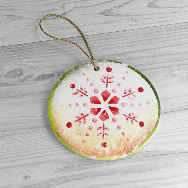 Snowflake Ceramic Ornaments