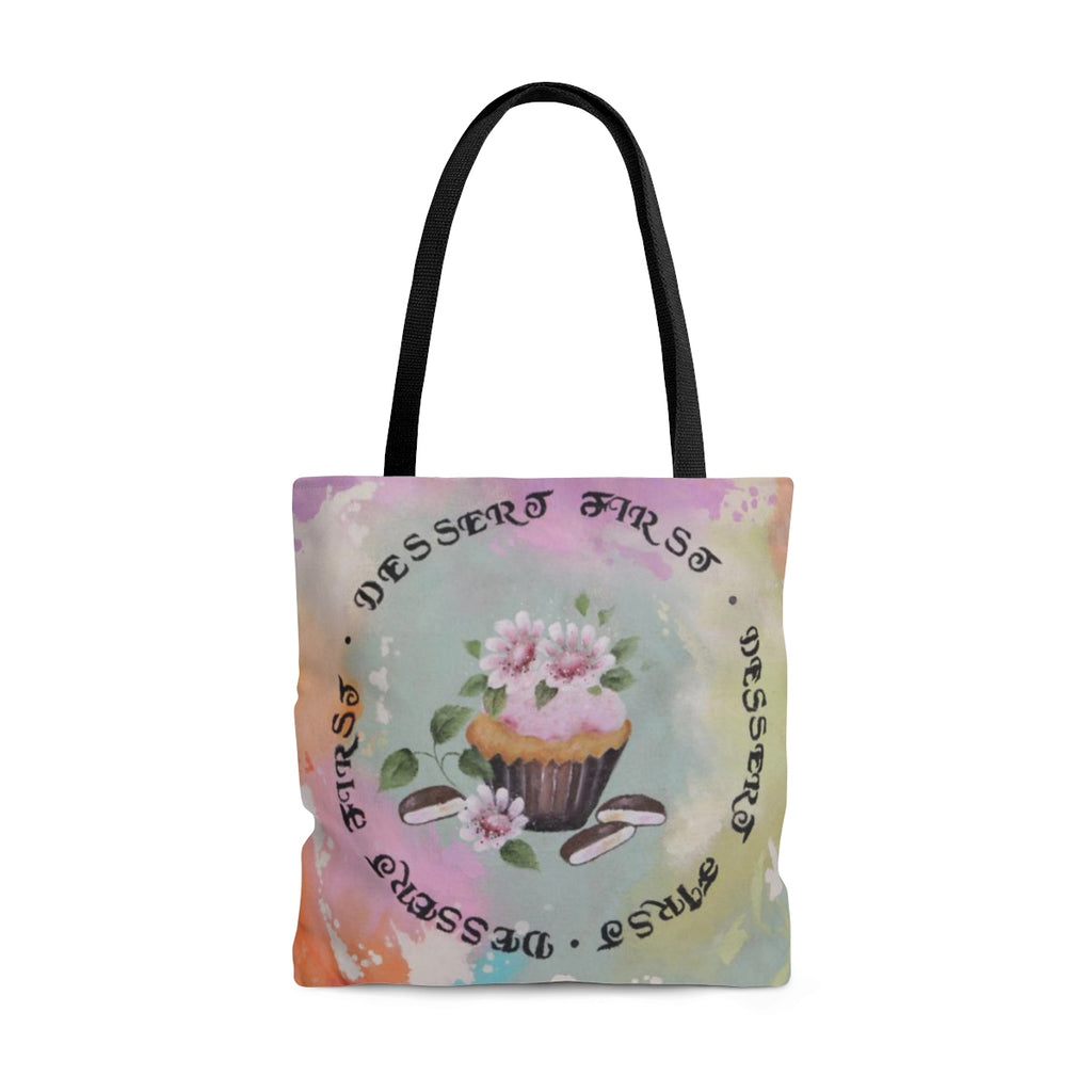 Dessert First Tote Bag