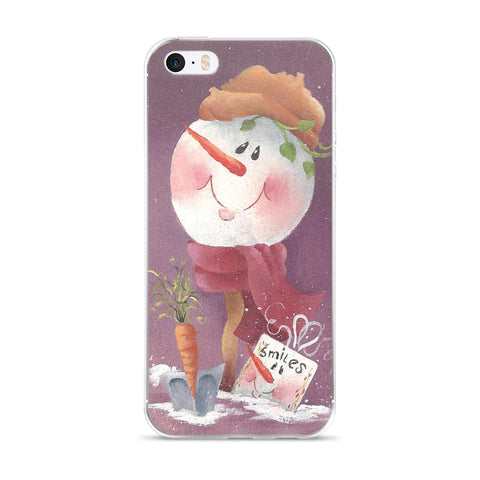 Smiles Snowman - iPhone 5/5s/Se, 6/6s, 6/6s Plus Case