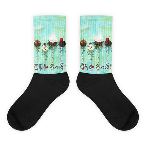 Oh So Sweet - Black foot socks
