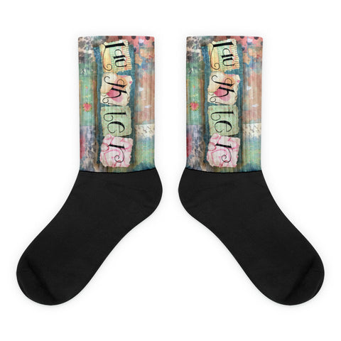 Laughter - Black foot socks