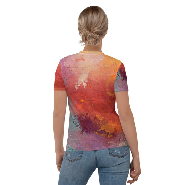 Mottled, Textured and Distressed Women's T-shirt