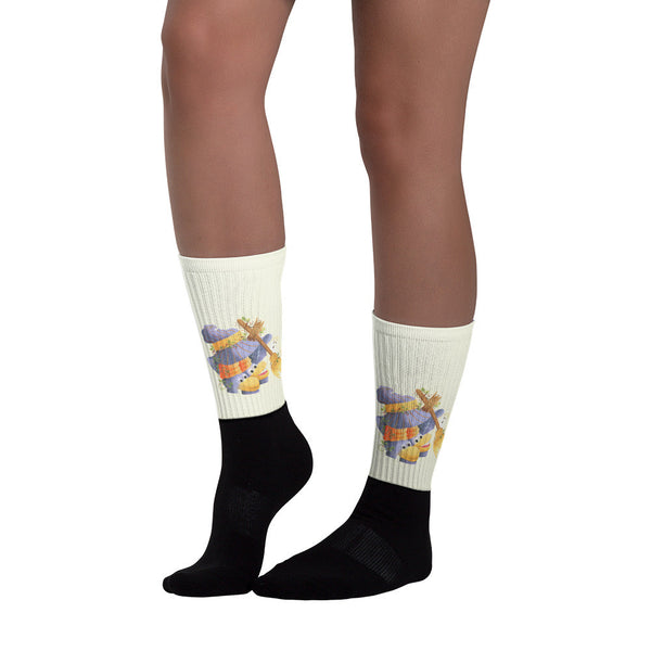 Halloween Sweeping - Black foot socks