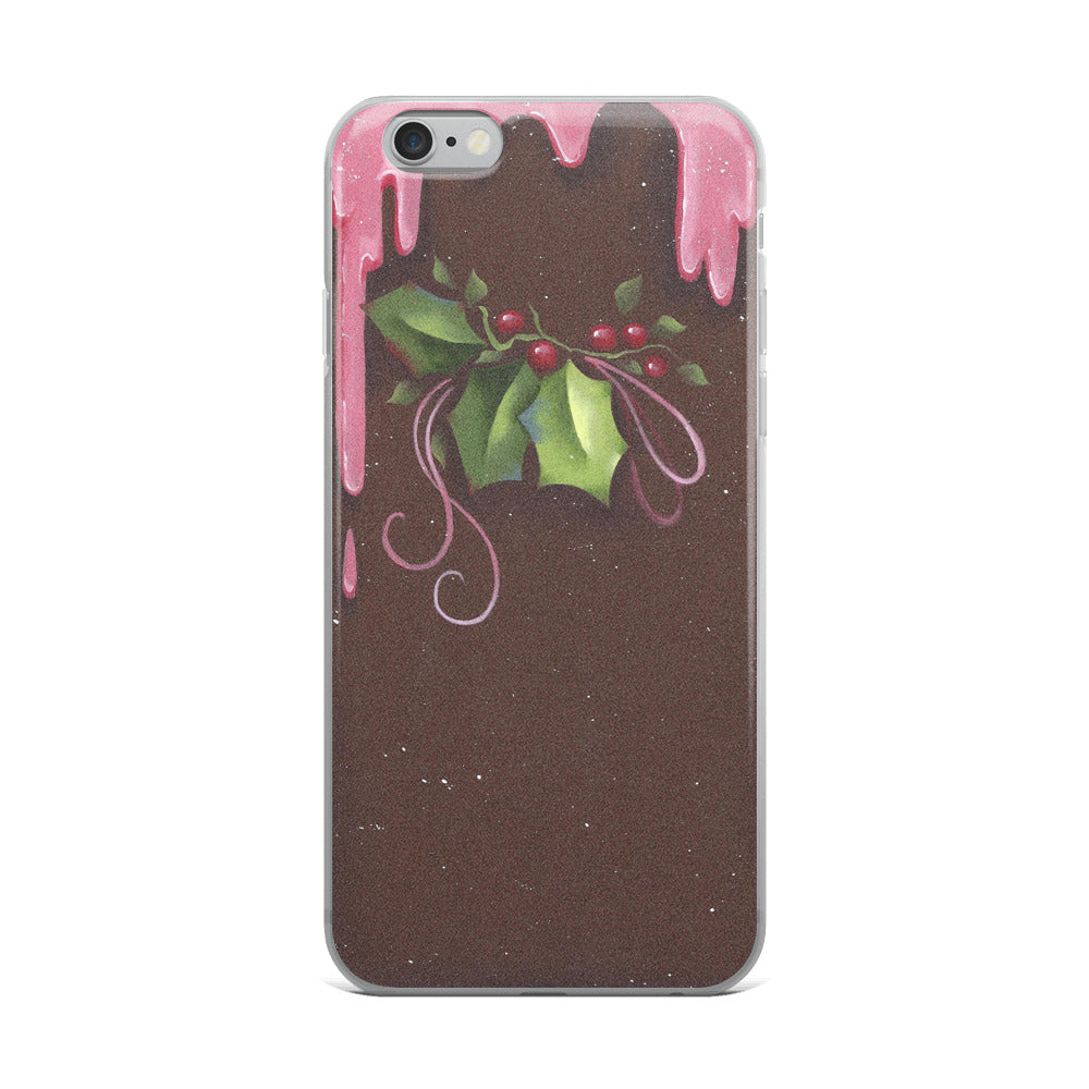 Chocolate Holly - iPhone 5/5s/Se, 6/6s, 6/6s Plus Case