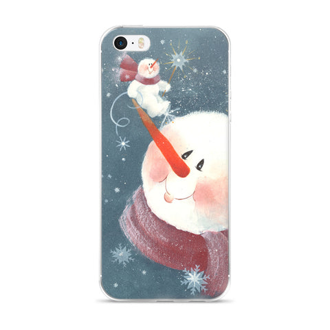 Snowman on a Nose - iPhone 5/5s/Se, 6/6s, 6/6s Plus Case