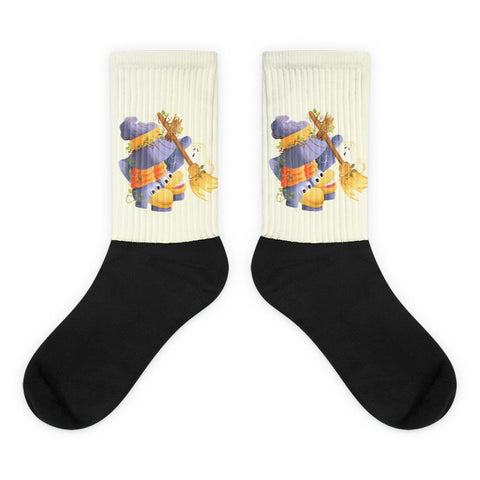 Halloween Shoes - Black foot socks