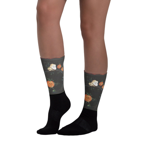 Running Pumpkin - Black foot socks