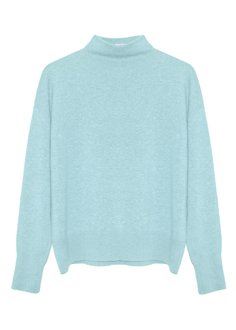 Isla Organic Cotton Cashmere Sweater - Blue