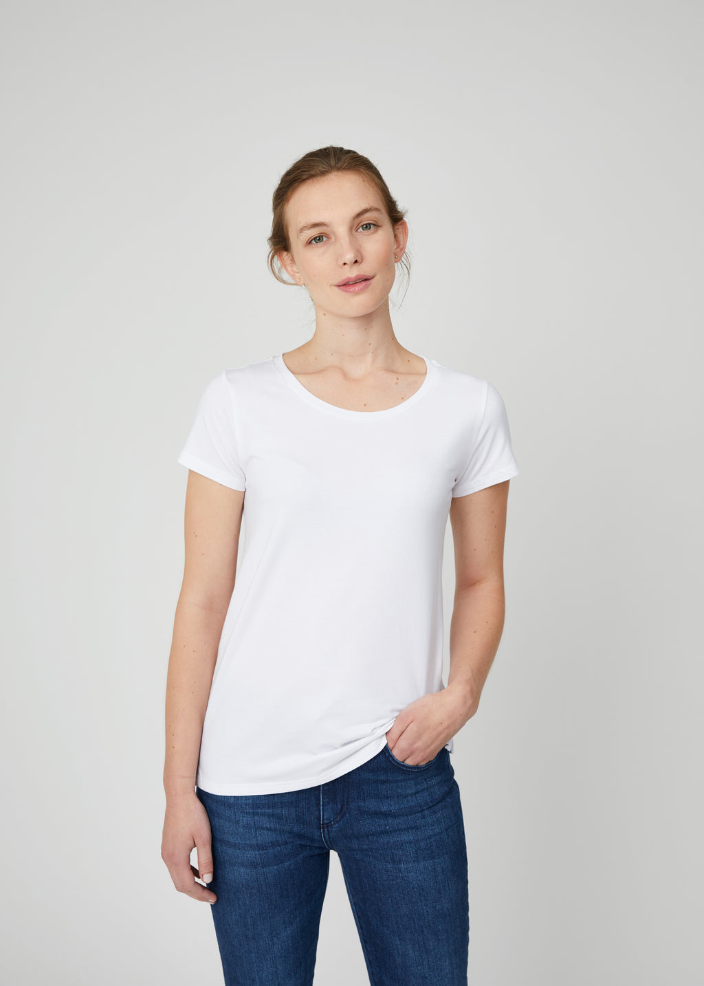 Lillian Crew Neck Tee White