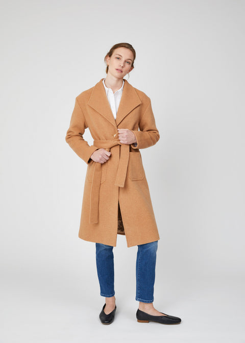 Grayson Camel Wool Felt Coat